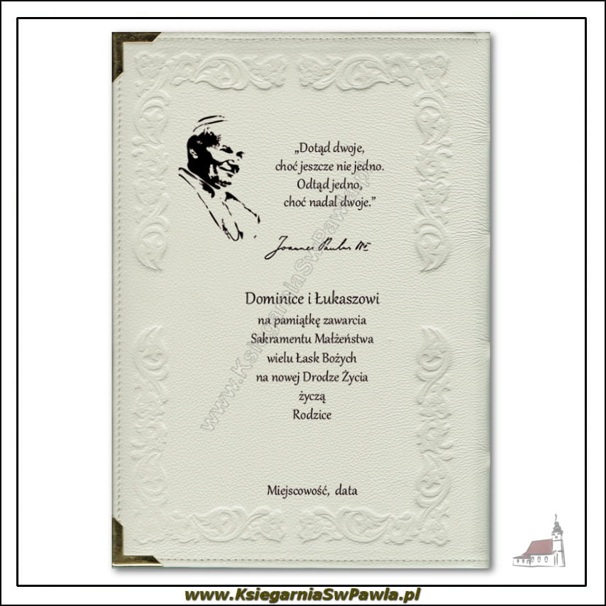 415fb99a204e66 Biblia dla małżonków. Pamiątka Ślubu. Wydanie złocone, z okuciami ...